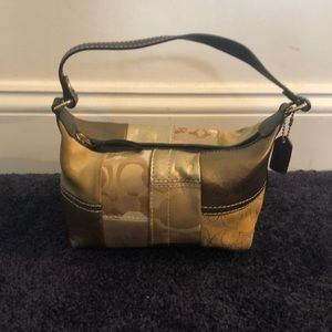 Coach Signature Top Handle Pouch